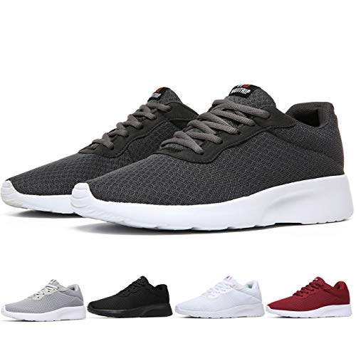 MAlITRIP Fitness Shoes Men Walking Fit Sport Tennis Training Running Work Lightweight Sneakers for Mens Dark Grey Gray Size 13