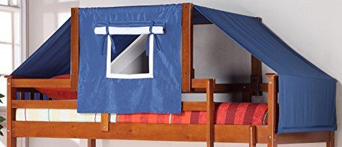 Donco Kids 755-E-Blue Tent Kit Accessory with Fabric, Light Espresso/Blue