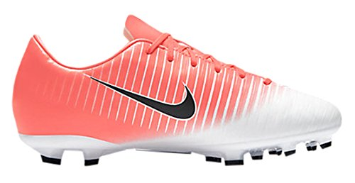 NIKE Kids JR Mercurial Vapor XI FG Soccer (Toddler Big), Racer Pink/Black/White, 2.5 Little Kid M by NIKE (Image #1)