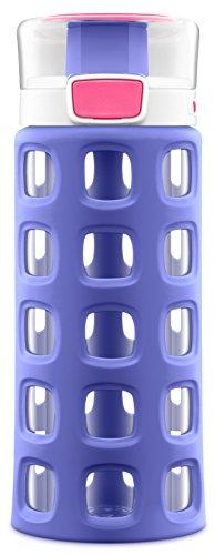 Ello Dash Kids Tritan Plastic Water with Silicone Sleeve, 16 oz, Charisma Purple