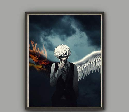 MS Fun Wings of Ghoul Ken Zombie Anime Poster Wall Art for Home Decoration 8 x 10 Inches,No Frame ()