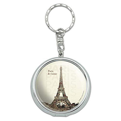 GRAPHICS & MORE Paris, Je T'Aime I Love You Eiffel Tower City Map Portable Travel Size Pocket Purse Ashtray Keychain with Cigarette Holder
