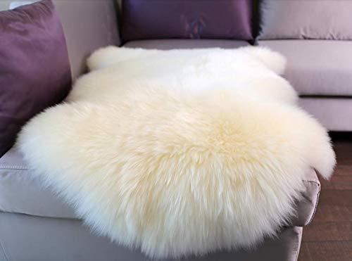 - Woolous Genuine New Zealand Sheepskin Rug Area One Pelt Ivory Natural Fur, Single,2x3 feet (Ivory)
