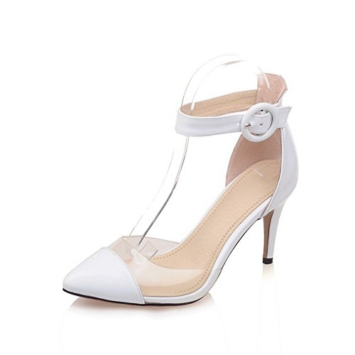 Blanc Blanc AdeeSu 5 36 Compensées Sandales Femme qRAwPfU
