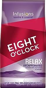 Eight O'Clock Ground Coffee, Relax Decaffeinated, 10 Ounce