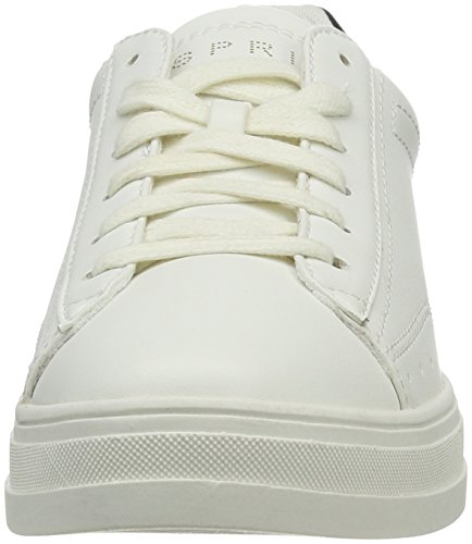 Esprit Sidney Lace Up, Zapatillas para Mujer Blanco (100 White)