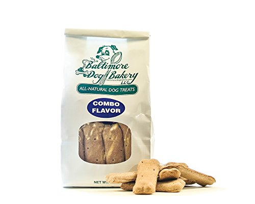 Baltimore Dog Bakery All-Natural Dog Treats, Variety Pack, Apple Cinnamon, Peanut, Carrot, and Original - 14-Ounce Bag, Made in the USA (Treats Cinnamon Apple Dog)