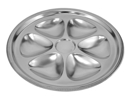 AM Stainless Steel Oyster Plate - Gadroon -