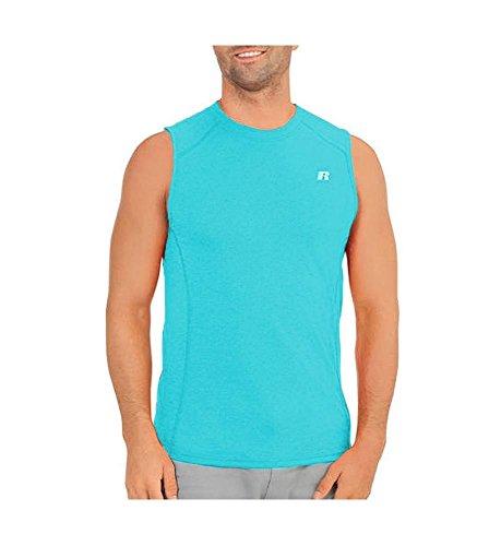 (Russell Athletic Dri-Power 360 Men's Performance Sleeveless Muscle Tee, Calypso, M)