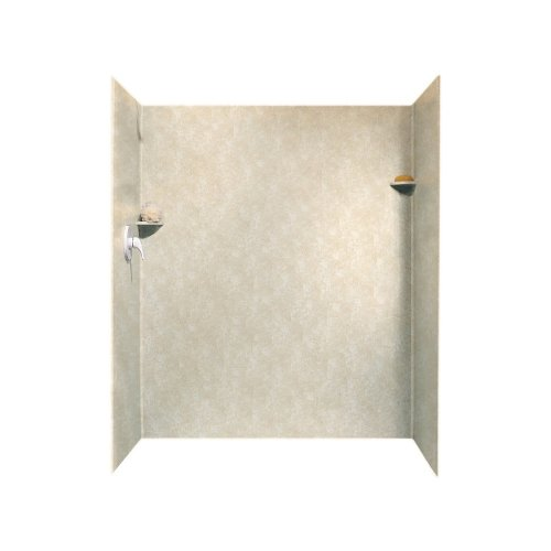 Swanstone SK-346072-126  Solid Surface 3 Panel Shower Side and Back Wall, Cloud Bone Desert Stone Bath Fixture