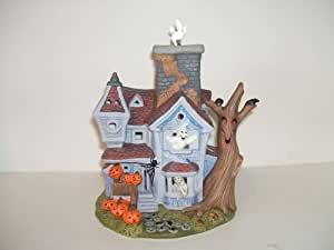Partylite Ghostly Tealight Haunted House Candleholder #P7862