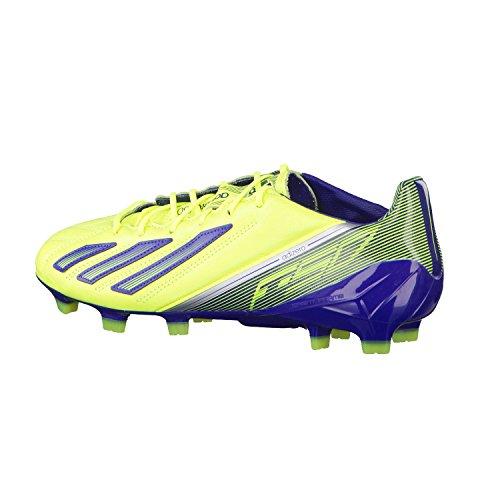 Adidas adizero f50 trx fg leather chaussures de football homme cuir jaune bleu nuit Adidas T:39 1/3