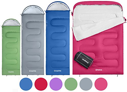 KingCamp Oasis 3 Season Sleeping Bag 4 Available Sizes (Child, Adult,...