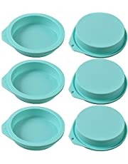 """Newk Silicone Round Cake Mold, 6 Packs Silicone Disc Like Mold for Cake, Resin Coasters, Handmade Soap – 4"""""""