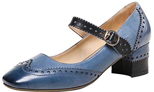 tac Zapatos Hebilla Square Mujer Toe Qaicr Arraysa 5CM de xTP1U8