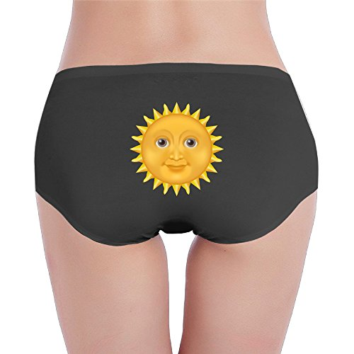 Smiley (Happy Face) Sun Shine Cute Logo Hipster Bikini Sexy Underwear Women's Black