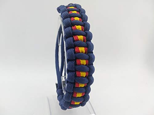 Pulsera de ESPAÑA AJUSTABLE, talla 13 a 22, nuevo modelo 2020, de paracord, BLUE NAVY: Amazon.es: Handmade