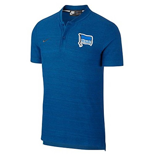 Nike 2018-2019 Hertha Berlin Authentic Polo Football Soccer T-Shirt Jersey (Blue)