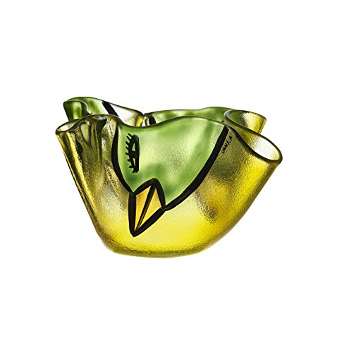 Kosta Boda Happy Going Bowl, Yellow (Bowl Yellow Decorative)