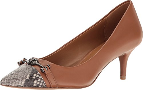 COACH Women's Lauri Saddle/Natural Silky Nappa/Luxe Snake - Nappa Natural