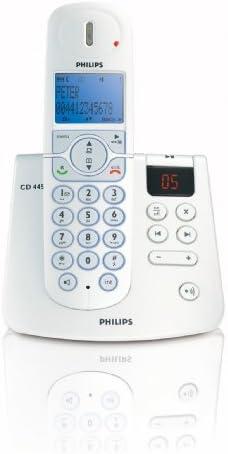Philips CD4451S/02 - Teléfono inalámbrico con contestador automático (DECT), color plateado y blanco [Importado de Alemania]: Amazon.es: Electrónica