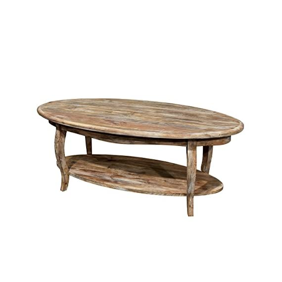 Alaterre Rustic Reclaimed Driftwood Oval Coffee Table - Additional limited-time savings reflected in current price Dimensions: 48W x 24D x 18H in. Wood construction - living-room-furniture, living-room, coffee-tables - 41FojhQMAhL. SS570  -