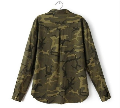 Amazon.com : Jacket Women Military Camouflage Blouse Coat ...