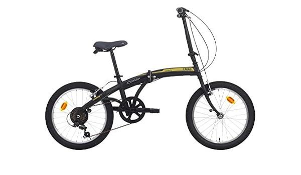 Bicicleta plegable C-Fold de acero 20 pulgadas con cambio SHIMANO 6 V Negro/Verde: Amazon.es: Deportes y aire libre