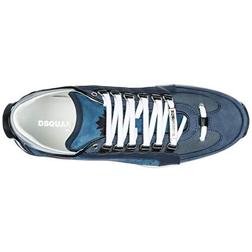 Dsquared2 Scarpe Sneakers Uomo in Pelle Nuove 551 Blu EU 40 SNM040413030001M1478