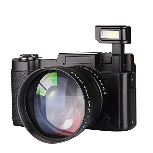 GordVE 3.0 Inch Digital Video Camera Camcorder, 22MP Night Vision Camcorder Digital Zoom Camera Video, HD 1080P Digital Camcorder with Flash Light Mic