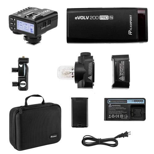 Flashpoint eVOLV 200 Pro TTL Pocket Flash Kit - Godox AD200 Pro R2 Mark II ETTL 2.4 GHz Wireless Flash Trigger for Nikon (Godox X2) by Flashpoint