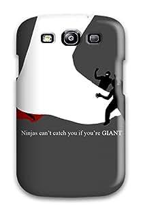 New Tpu Hard Case Premium Galaxy S3 Skin Case Cover(ninja) Sending Screen Protector in Free