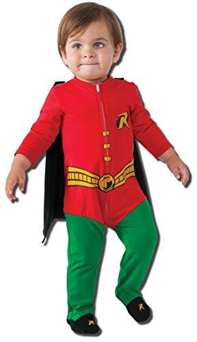 Rubie's Baby's DC Comics Superhero Style Baby Robin Costume, Multi, 6-12 -