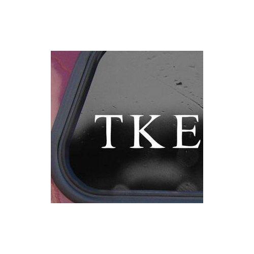TAU KAPPA EPSILON FRATERNITY TKE WHITE COLOR WALL ART DIE CUT MACBOOK VINYL AUTO HELMET ADHESIVE VINYL WINDOW ART DECOR NOTEBOOK HOME DECOR CAR CAR WALL DECORATION LAPTOP BIKE DECAL - Tau Colours