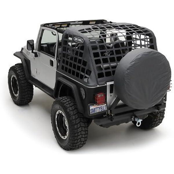 Smittybilt C.RES System Cargo Net For 07-18 Jeep Wrangler JK 2 Door 571035 Black