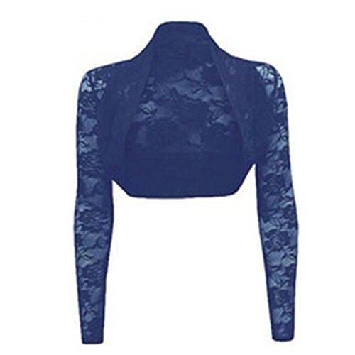 Violet Pure Chle Gilet Dentelle Femme Automne Unie Bolro Cardigan Bleu Fille Petit Veste Aelegant Printemps Ouvert Couleur pour R8wTxq7qI