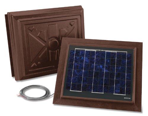 Broan 355RSOBR Remote Mount Solar Powered Attic Ventilator, Brown