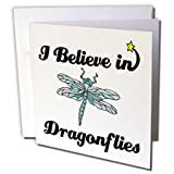 3dRose I Believe In Dragonflies - Greeting Cards, 6 x 6 inches, set of 12 (gc_105121_2)