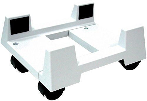 Aidata CS002M Econo Mobile CPU Stand, White, Width Adjustable from 150mm/6