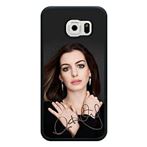 New Zeng Galaxy S6 Case, Customized Anne Hathaway Black Soft Rubber TPU Samsung Galaxy S6 Case, Anne Hathaway Galaxy S6 Case(Not Fit for Galaxy S6 Edge)