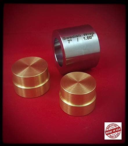 "Mega Swedish Wrap Die 1.6"" with 2 Brass Plungers (2 Push Rods)"