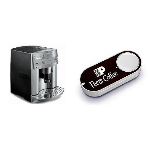 DeLonghi ESAM3300 Magnifica Super-Automatic Espresso /Coffee Machine & Peet's Coffee Dash Button by DELONGHI