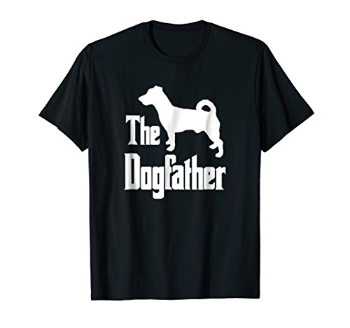 Jack Russell Terrier Silhouette - The Dogfather t-shirt, Jack Russell silhouette, funny dog