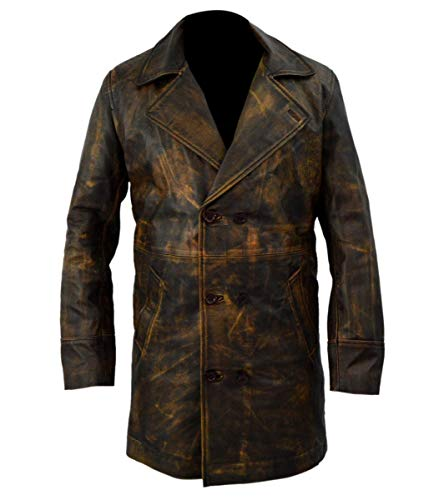 (Sam Swift Doctor Who Distressed Brown Leather Jacket- XS)