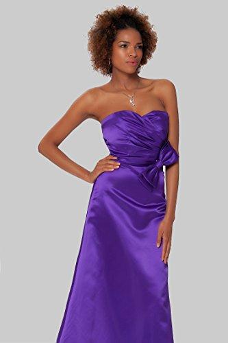 tirantes CadburyPurple noche de SEXYHER damas de cuerpo de Gorgeous de formal sin EDJ1457 las Encuadre entero honor vestido xpSTwqYp