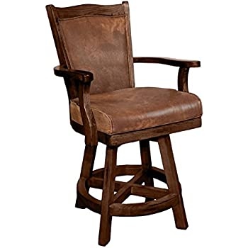 Amazon Com Sunny Design 1882dc Santa Fe Swivel Barstool