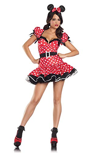 Be Wicked Flirty Mouse Costume, Red/Black/White, Small/Medium