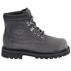 Harley Davidson Womens Bayport Charcoal Grey Leather Boots 7 US