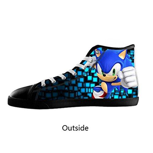 Custom Women Sonic the Hedgehog Canvas Shoes High Top Sneakers US10 (Sonic The Hedgehog Sneakers)