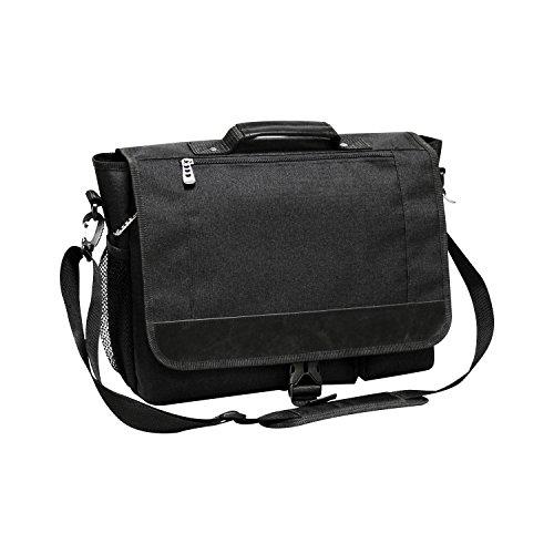 (Natico 60-4632 Cosmopolitan Messenger Bag, Black)